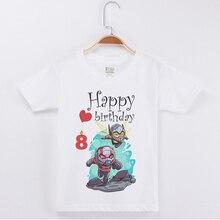 New Arrival Boy Brand Tshirt Birthday Present T-Shirts Cotton Boys Short Sleeve T Shirts Ant Printing Top Child Tees Tops