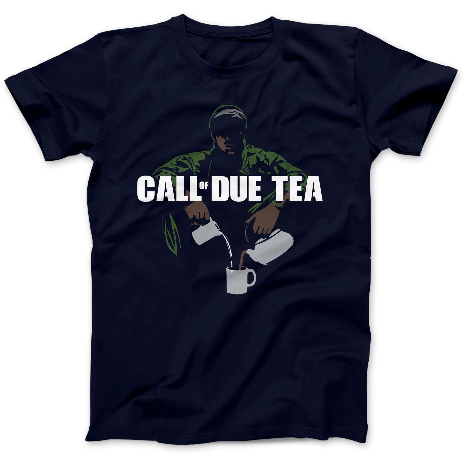 Call Of Due Tea Parody T-Shirt 100% Premium Cotton Advanced Warfare Duty