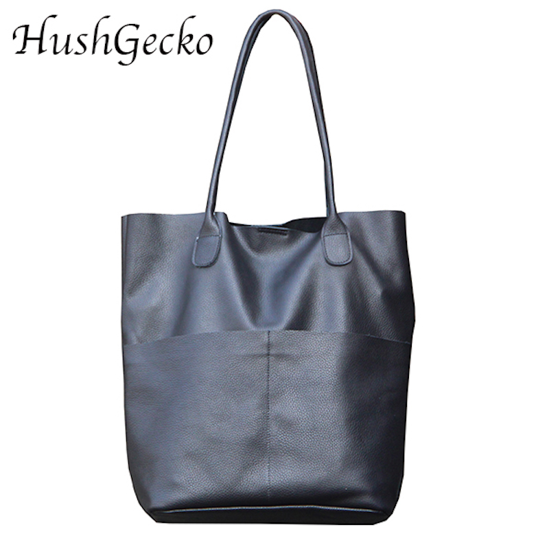 HG Handmade High end Microfiber Leather Women Shoulder Bags Causal Vintage Soft Skin Handbag Shopping Bucket