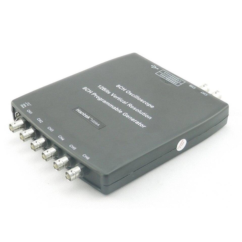 Diagnostic Oscilloscope Original Hantek1008A 8Channel PC USB Digital Storage Automotive virtual car Signal generator