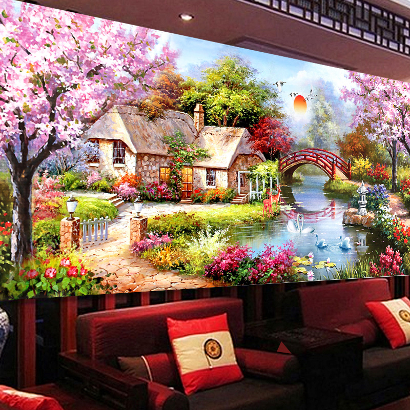 Buy 2016 diy 5d diamond painting cross stitch home decor wall sticker garden - Garden decor stores ...