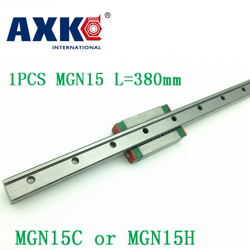 2018 Rail MGN15 For 15mm Linear Guide Mgn15 L=380mm Linear Rail Way + Mgn15c Or Mgn15h Long Linear Carriage For Cnc X Y Z Axis 15mm linear guide mgn15 l 1600mm linear rail way mgn15c or mgn15h long linear carriage for cnc x y z axis