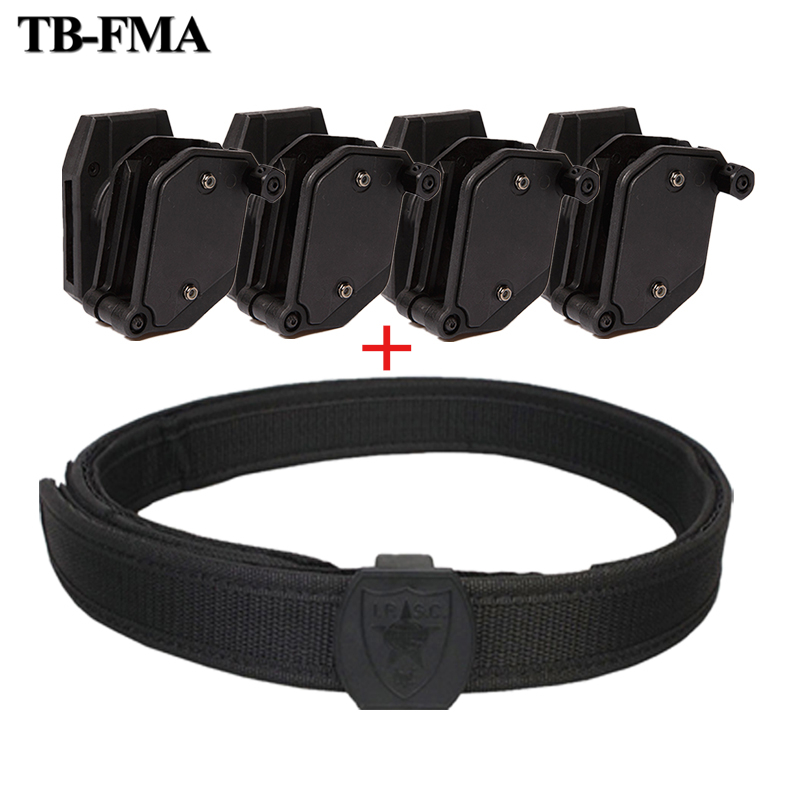 TB-FMA IPSC Belt Holster Speed Magazine Pouch Set Competition Shooting Belt Tactical Mag Holster Pistol Quick Magazine Pouches tactical army force leather shoulder pistol holster for 654k with magazine pouch