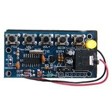 цена на Wireless Stereo FM Radio Receiver PCB Module DIY Electronic Kits 76MHz-108MHz