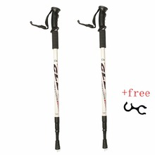 2Pcs/pair 135CM Aluminum Outdoor Hiking Anti Shock Walking Sticks Telescopic Trekking Climbing Poles Ultralight Walking Canes