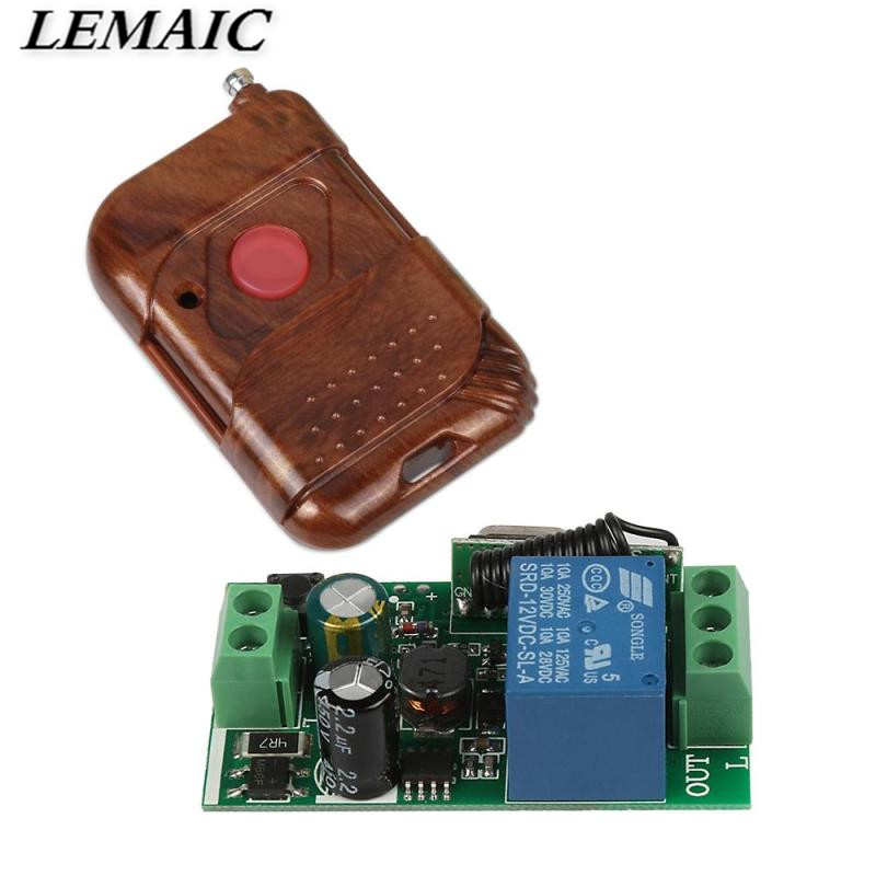Hot Sell 433 MHz AC 85V~250V 110V 220V Relay 1CH Wireless Remote Control Switch Receiver Module and RF 433Mhz Remote Controls 85v 250v remote relay control switch 8ch receiver