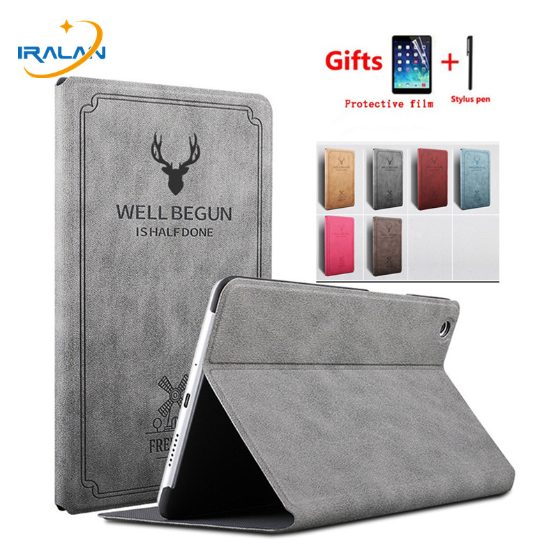 Case For Huawei MediaPad M5 Lite 10 BAH2-W19/L09/W09 Retro PU Leather Smart Stand Cover For Huawei M5 Lite 10 10.1 Inch+Film+Pen