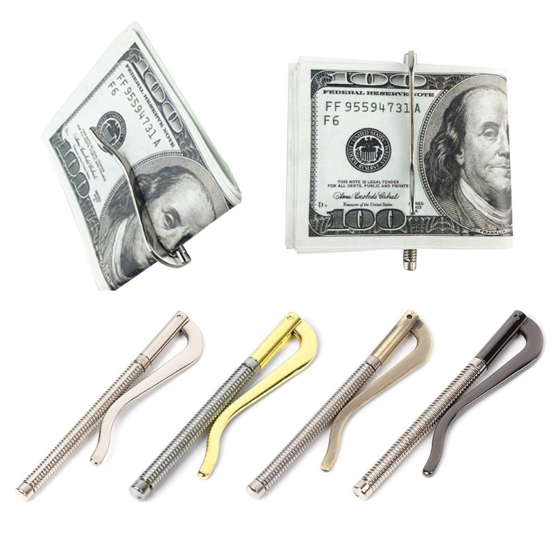 1PC Metal Bifold Money Clip Clamp Cash Holder 2020 Fashion Men Women Bar Wallet Replace Parts Spring Clip New