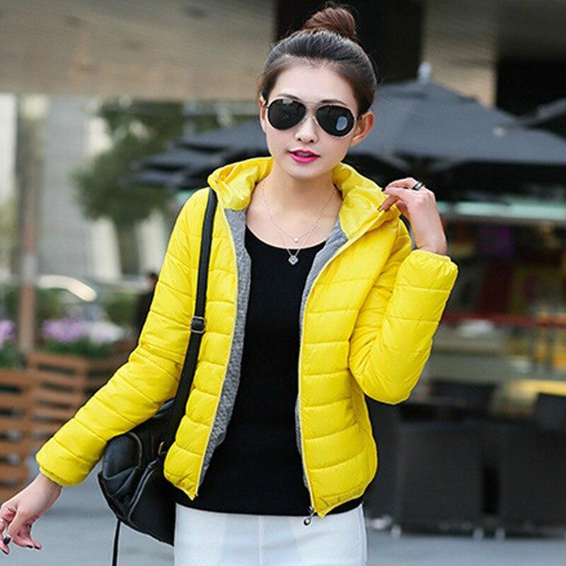 New Autumn Winter Women Ultra Light parka Jacket Hooded Warm Slim overcoat Lightweight Parkas Female Thin Short Coat