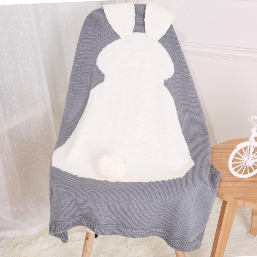 Baby Blankets Newborn 2019 Rabbit Knitting Blanket Bedding Quilt For Bed Sofa Stroller Wrap Infant Swaddle Photography Props
