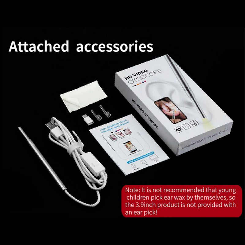 3.9 ملليمتر الأذن تنظيف المنظار 4.5 ملليمتر 5.5 ملليمتر كاميرا 1.0 ميجا بكسل Earpick لالروبوت PC Borescope التفتيش USB نوع-C مايكرو