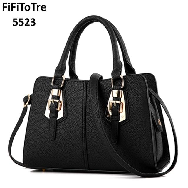 a55d01f8b1b US $61.81 |Aliexpress.com : Buy Hot Sale 2018 New Fashion Big Bag Women  Shoulder Messenger Bag Ladies Handbag bag Famous Brand Metal Tote Leather  Bag ...