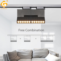 12W 85 265V Track Light Modern LED Track Lights Rail Track Lighting Fixture House Exhibition Store Indoor Lamp Lights Systems