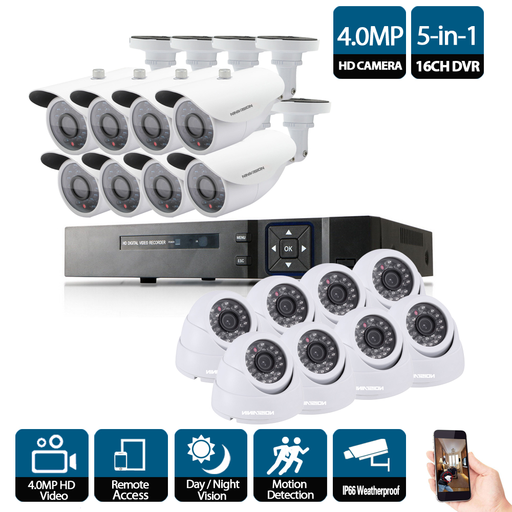 16CH 4MP CCTV System 16Pcs HD 4MP low illumination IP66 in/outdoor Security Camera kit P2P Video Surveillance System 4K output16CH 4MP CCTV System 16Pcs HD 4MP low illumination IP66 in/outdoor Security Camera kit P2P Video Surveillance System 4K output