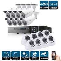 16CH 4MP CCTV System 16Pcs HD 4MP low illumination IP66 in/outdoor Security Camera kit P2P Video Surveillance System 4K output
