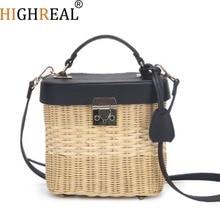 New Women Fahsion Straw Rattan Bag INS Popular Female Handma