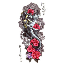 5pcs Nyu Wa v mitih vodoodporne začasne tetovaže moški modro cvetje tatuje kane maquiagem tetuajes temporales a prueba de agua