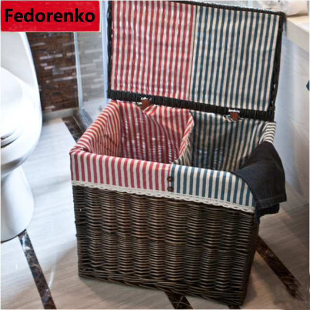 large wicker rattan laundry baskets natural rattan baskets with lid clothes storage box and bins. Black Bedroom Furniture Sets. Home Design Ideas