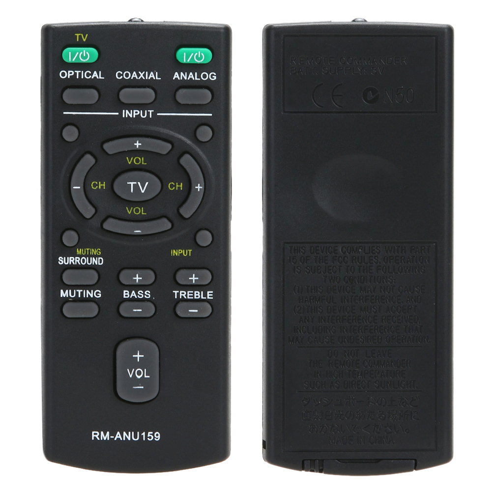 New Replacement Remote control RM-ANU159 For Sony Sound Bar HT-CT60 /C SA-CT60 SS-WCT60 telecommande chunghop rm l7 multifunctional learning remote control silver