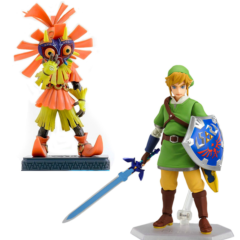 2016 Anime The Legend of Zelda Skyward Sword Link Figma PVC Action Figure 14 CM Collectible Model Toy Figma 153 High Quality maxfactory figma 178 yasina hand sword domain of god yuki akihina model model of the japanese anime girl s gift