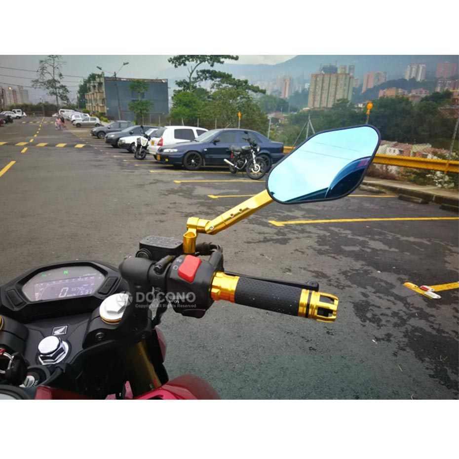 Universal Motorcycle Modified CNC Rearview Mirror For yamaha mt-125 mt 125 sr400 tdm 850 900 xjr 400 ktm duke 125 200 390