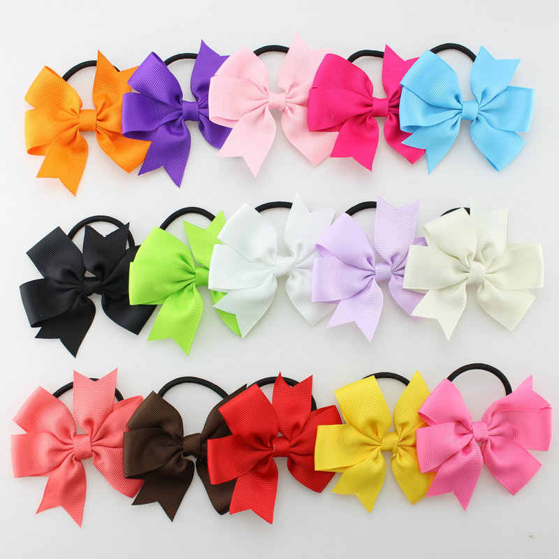 100pcs  renda Ribbon Hair Bows Clip hair ties Girls' Boutique PinWheel HairBows Hair Clip hair bobbles Accessories HD3227