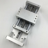 100MM 200MM Stroke Linear Guide Stage CNC Linear module Sliding Table XYZ Axis Ballscrew Working Table CNC Milling Machine