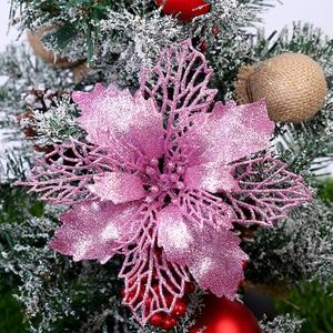 Image 3 - Yoriwoo 3 Nhân Tạo Hoa Giáng Sinh Hoa Giả Lấp Lánh Merry Christmas Cây Đồ Trang Trí Quà Giáng Đồ Trang Trí Cho Gia Đình Năm Mới