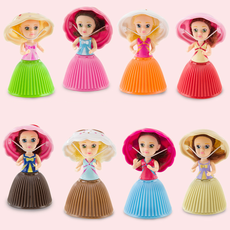 Random 6pcs/12pcs Different Dolls 9cm Jimusuhutu Surprise Cupcake Princess Doll Toy Figure Birthday Present Mini Cake Doll Gift