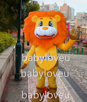 New sun lion cat mascot costume party fancy dress suit carnaval traje fursuit mascote personalizado de negócios