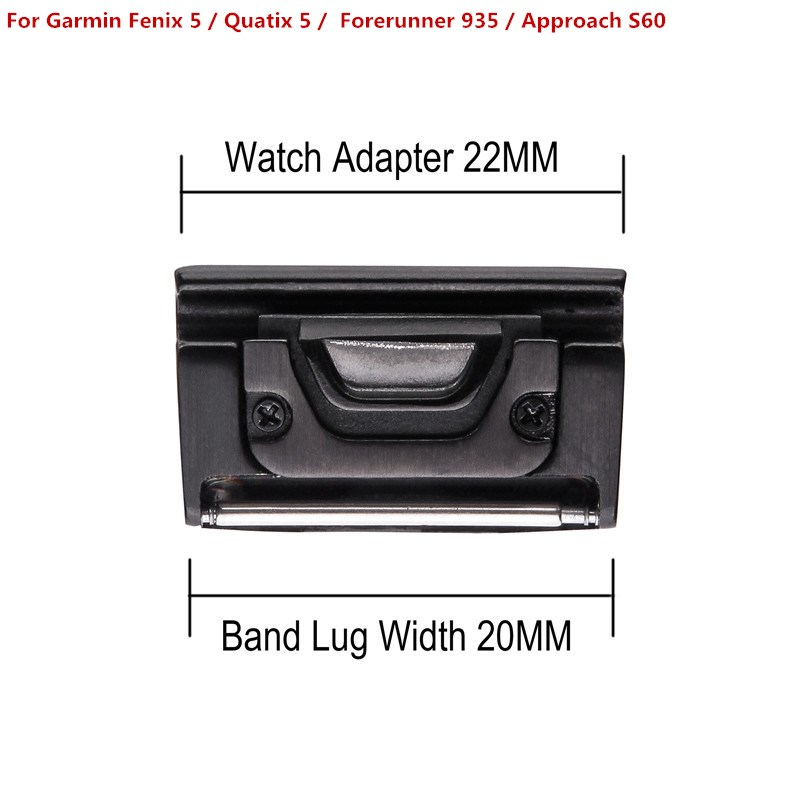 26MM 22MM 20MM Metal Watch Band Quick Release Clasp Adapter Connector for Garmin Fenix 5X/Fenix 3/Fenix 3 HR/Fenix 5/5S/Quatix 5 fenix православная азбука