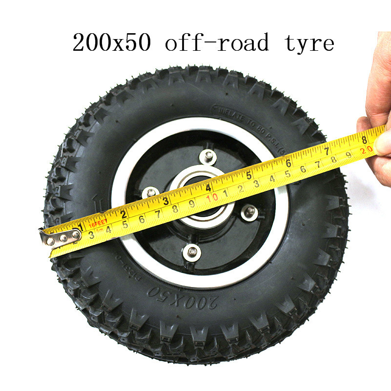 Best Quality Off Road Tires >> Us 17 14 14 Off Good Quality Off Road Tires 8 Inch 200x50 Rubber Tire With Hub Mini Skateboard Off Road Electric Vehicle Tire In Tyres From