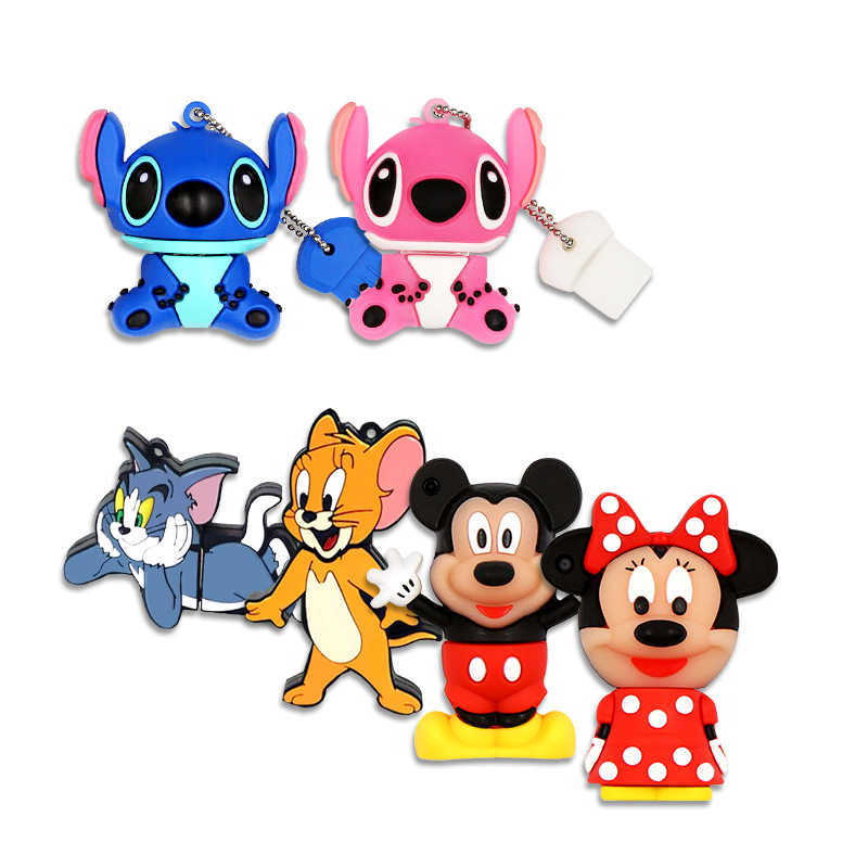 Unidade flash usb dos desenhos animados Mickey Minnie 64 GB pen drive usb 2.0 GB usb de dibujos animados 32 16 pendrive GB memoria flash usb car