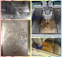 AccTek 4040 chinese metal router cnc mold making machine