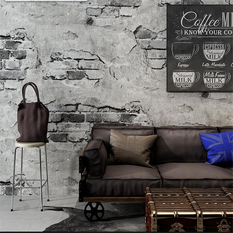 The new Brick pattern wallpaper brick retro culture stone brick wall industrial wind loft coffee restaurant background wallpaper chinese retro personalized brick pattern wallpaper restaurant restaurants hotels dedicated wallpaper