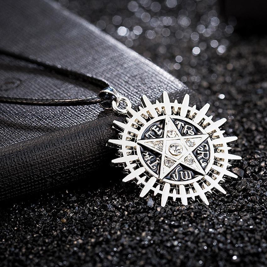 Supernatural Necklace Ancient Demon Evil sun power Vintage Retro Supernatural Pendant Movie Jewelry Wholesale CS907
