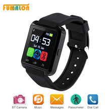 Bluetooth Watch U8 Smart Watch Наручные Часы для Apple ios Android смартфон Как GT08 шагомер носимых smartwatch Часы