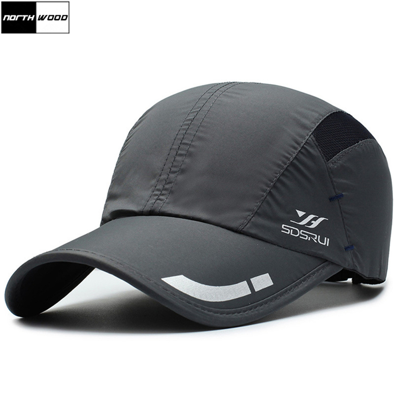 [NORTHWOOD] 2019 Fashion Mesh Summer   Cap   Breathable Mens   Baseball     Cap   Women Bone Snapback Quick Drying Dad Hat Gorra Hombre