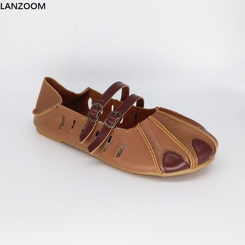 LANZOOM 2017 Summer new arrive slipper sandals women patchwork flats buckle slip on Casual Shoes two ways wear Footwear 2017 new arrival summer fashion style casual shoe women beach sandals green lady flats slides slipper mules metal chain slip on