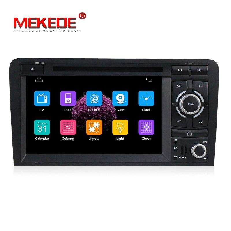 MEKEDE HD Capacitif écran Deux Din 7 Pouces Lecteur DVD de Voiture Pour Audi/A3/S3 2002-2011 canbus Radio GPS Bluetooth 1080 P Navigation