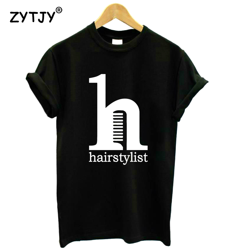 hair stylist comb letters print