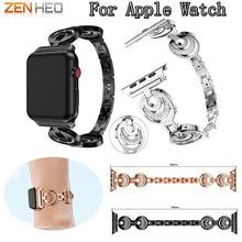 Tali berkualiti baru keluli tahan karat untuk epal jam tangan gelang band berlian buatan berlian buatan 38mm / 42mm jam tangan pintar untuk iwatch siri 3 2 1