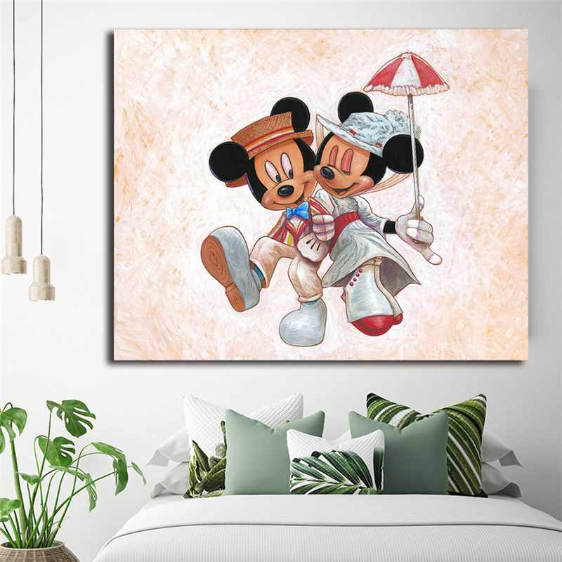 The Perfect Couple Mickey Minnie Mouse Art Canvas Poster Painting Wall Picture Print Home Bedroom Decoration Accessories Artwork