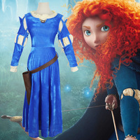 Brave Princess Merida Costume Cosplay Merida Princess dress Carnival Character Suit Cosplay Outfits Adult Size