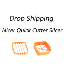 Nicer Quick Stainless Steel Vegetable Dicer Chopper 5 in 1 Multi-Function Slicer with Container Onion Cutter Kitchen Accessories