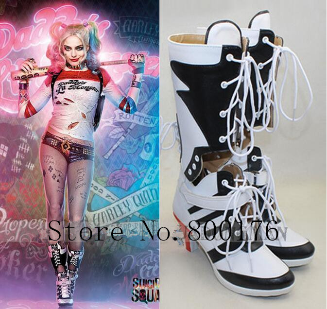 Suicide Squad Harley Quinn anime Canvas Shoes women Trainers Boots Cosplay shoes
