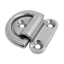 29x19x6mm 316 de aço inoxidável dobrável deck almofada olhos/amarração d anel amarrar para baixo ponto âncora fixação braçadeira placa