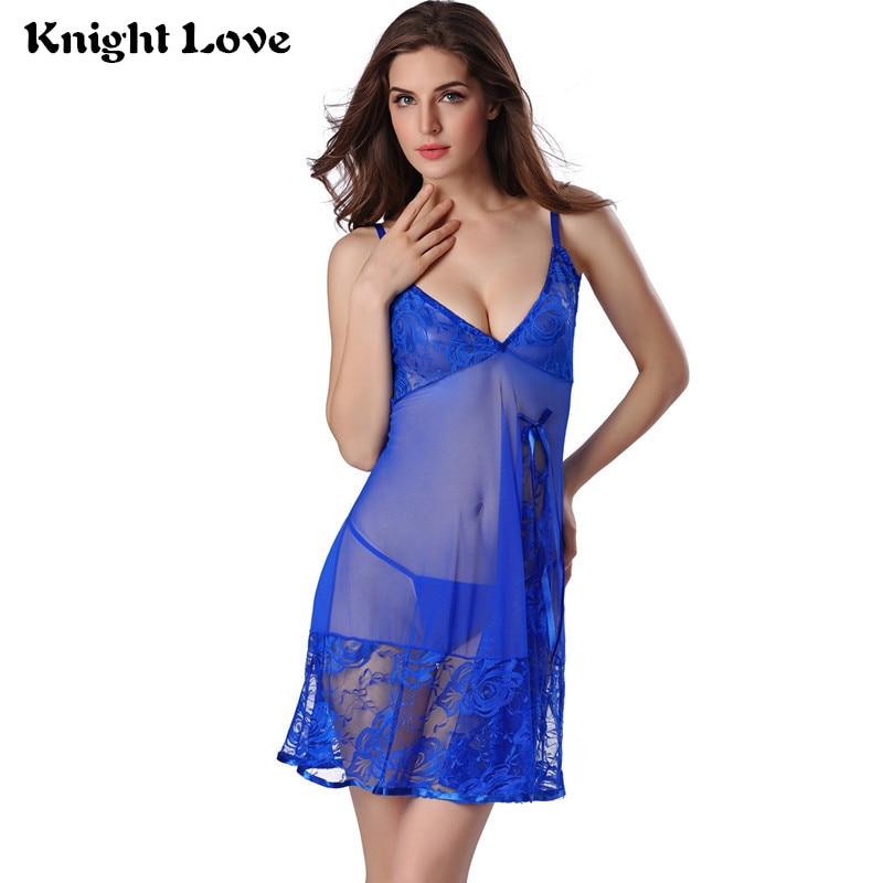 Sexy noční košile Lace Baby Dolls Sleepwear Lace Spodní prádlo Babydoll Nightdress Nightgown Baby Dolls Women Spodní prádlo