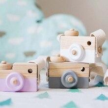Милая деревянная игрушка-камера Vitoki, украшение для детей, модная одежда, аксессуары, синий, розовый, белый, мятный, зеленый, фиолетовый, рождественские подарки