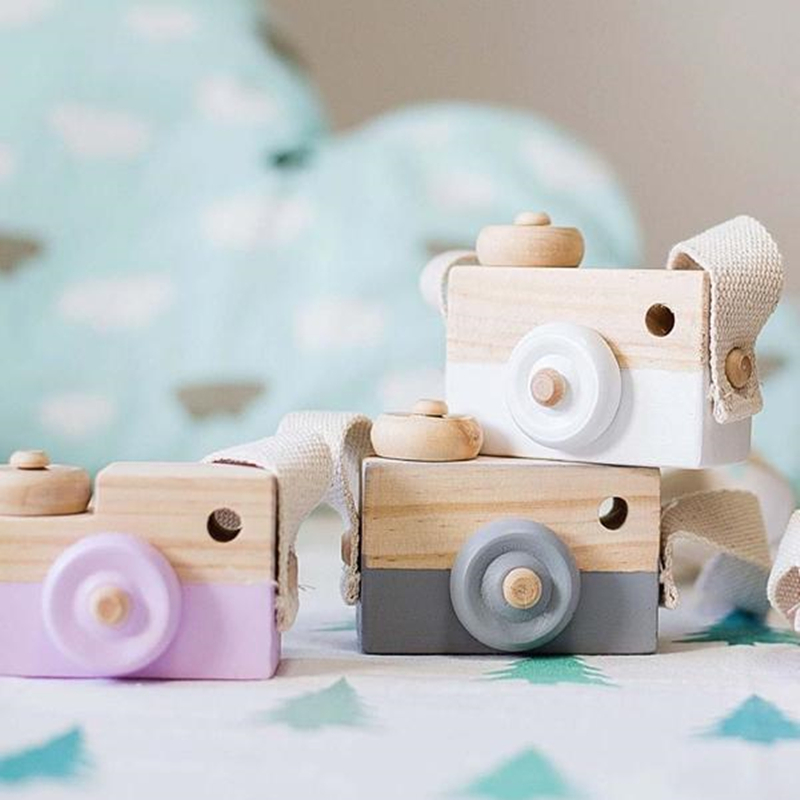 Vitoki Colorful Wooden Camera Toy Gifts Kids 9.5cm Safe Natural Wood Toy Fashion Clothing Accessory Birthday Toy Dropshipping